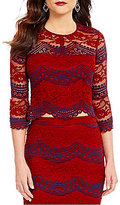 Lucy Paris Lace Combo 3/4 Sleeve Top