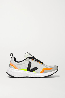 Veja Net Sustain Condor Rubber-trimmed Mesh Sneakers - Light gray