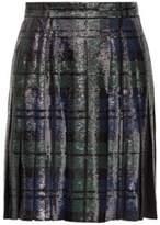 Ralph Lauren Abby Sequined Silk Skirt Black 8
