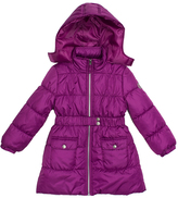 Pink Platinum Raspberry Belted Long Puffer Jacket - Toddler & Girls