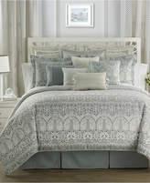 Waterford Allure Slate Gray Reversible Queen Comforter Set Bedding