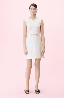 Rebecca Taylor Scalloped Suiting Dress