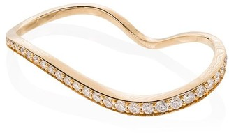 Sophie Bille Brahe 18K yellow gold Alessi diamond double ring
