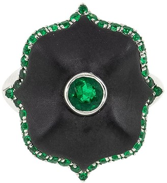 Bayco Platinum Emerald Ring