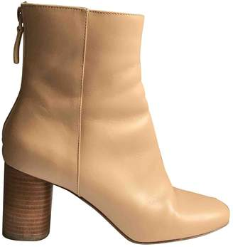 Sandro Beige Leather Boots