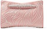 Jimmy Choo VENUS Blush Satin Clutch Bag with Crystals