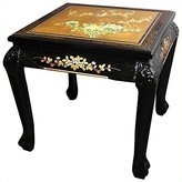 Oriental Furniture 21.5-Inch Claw Foot Design Chinese Lacquer Oriental End Table