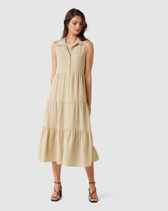 Forever New Megan Sleeveless Shirt Maxi Dress