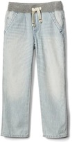 Gap Railroad stripe pull-on straight jeans