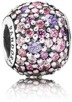 Pandora Silver and Pink Sparkles Pave Ball Charm 791261ACZMX