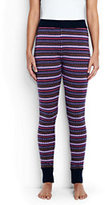 Classic Women's Merino Sleep Legging Navy Fairisle