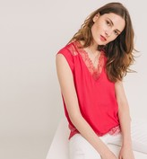 Promod Silky top with lace trim