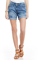 Levi's Classic Floral-Embroidered Denim Shorts