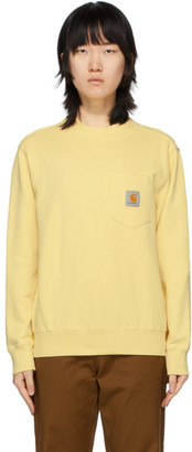 Carhartt Work In Progress Yellow Pocket Sweatshirt