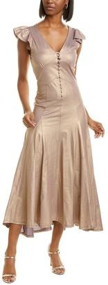 Mes Demoiselles Charlize Silk-Blend Maxi Dress