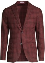 Boglioli Plaid Wool & Silk Blazer