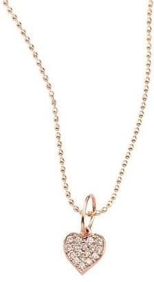 Sydney Evan Heart Diamond & 14K Rose Gold Pendant Necklace