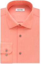Calvin Klein STEEL Men's Classic-Fit Non-Iron Textured-Stripe Dress Shirt