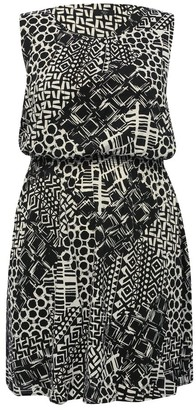 M&Co Plus printed dress