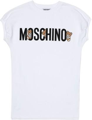 Moschino Kids Logo stretch-cotton dress