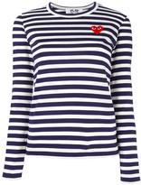 Comme des Garcons striped longsleeved T-shirt - women - Cotton - M