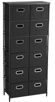 Household Essentials Storage Unit with 6 Shelves and 12 Removable Bins, Finish