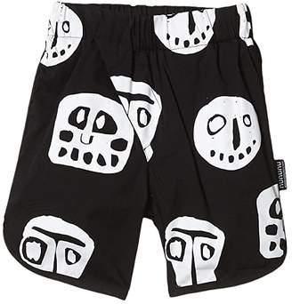 Nununu Rowdy Masks Surf Shorts (Infant/Toddler/Little Kids) (Black) Boy's Swimwear
