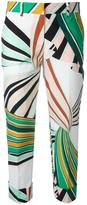 Emilio Pucci straight cropped trousers - women - Cotton/Spandex/Elastane/Acetate/Viscose - 44