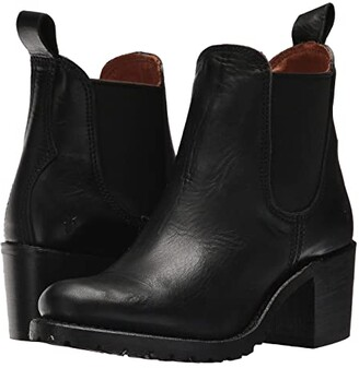 Frye Sabrina Chelsea (Black Oil Tanned Full Grain) Women's Pull-on Boots
