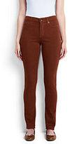 Classic Women's Mid Rise Slim Leg Jeans-Darkest Burgundy