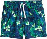 H&M Patterned Swim Shorts - Dark blue/floral - Men