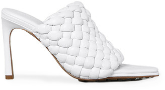 Bottega Veneta Padded Leather Sandals in Optic White | FWRD