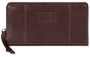 Mancini Casablanca Collection Rfid Secure Ladies Zippered Clutch Wallet