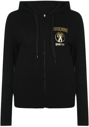 Moschino Flamingo Zip Hooded Sweatshirt