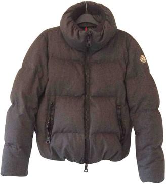 Moncler Grey Wool Coat for Women