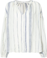 Closed striped blouse - women - Cotton - XS