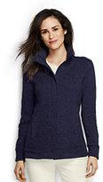 Classic Women's Petite Sweater Fleece Jacket-Orchid Berry Heather