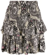 Etoile Isabel Marant ruched layered paisley print skirt