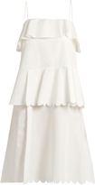 See by Chloe Scallop-edged cotton dress