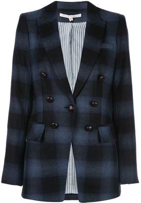 Veronica Beard Hudson oversized plaid blazer