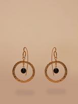 Diane von Furstenberg Gold Hoop Beaded Earrings