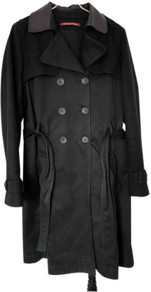 Comptoir des Cotonniers Black Cotton Trench coats