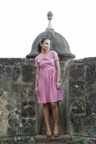 Shabby Apple Lucia Fit and Flare Dress Red