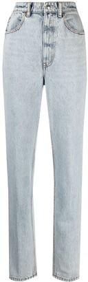 Alexander Wang High-Rise Stripe-Print Straight-Leg Jeans