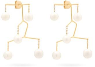 Anissa Kermiche X Rejina Pyo Kinetic Perle Drop Earrings - Pearl