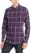 Lucky Brand Men's Miter Two Pocket Shirt In Navy Multi