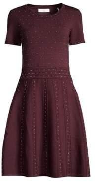 Sandro Embellished Fit-&-Flare Dress