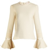 See by Chloe Frill-sleeve cotton-jersey sweatshirt