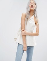 Weekday Press Pack One Shoulder Top With Buckle