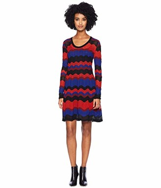 M Missoni Women's Macro Ripple Long Sleeve Dress
